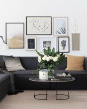Affordable Apartment Living Room Design Ideas With Black And White Style 21