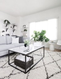Affordable Apartment Living Room Design Ideas With Black And White Style 23