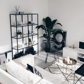 Affordable Apartment Living Room Design Ideas With Black And White Style 32