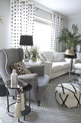 Affordable Apartment Living Room Design Ideas With Black And White Style 37