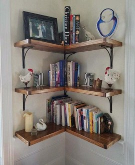 Amazing Corner Shelves Design Ideas 10