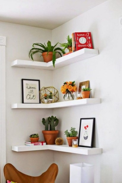 Amazing Corner Shelves Design Ideas 25