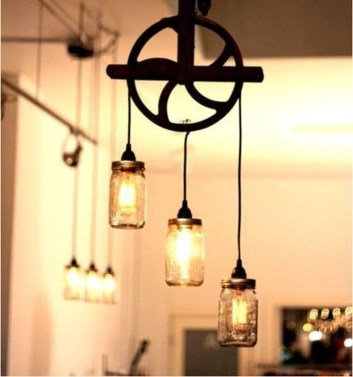 Charming Industrial Lighting Design Ideas For Home 33