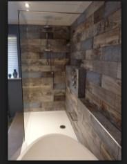 Comfy Farmhouse Wooden Bathroom Design Ideas 02