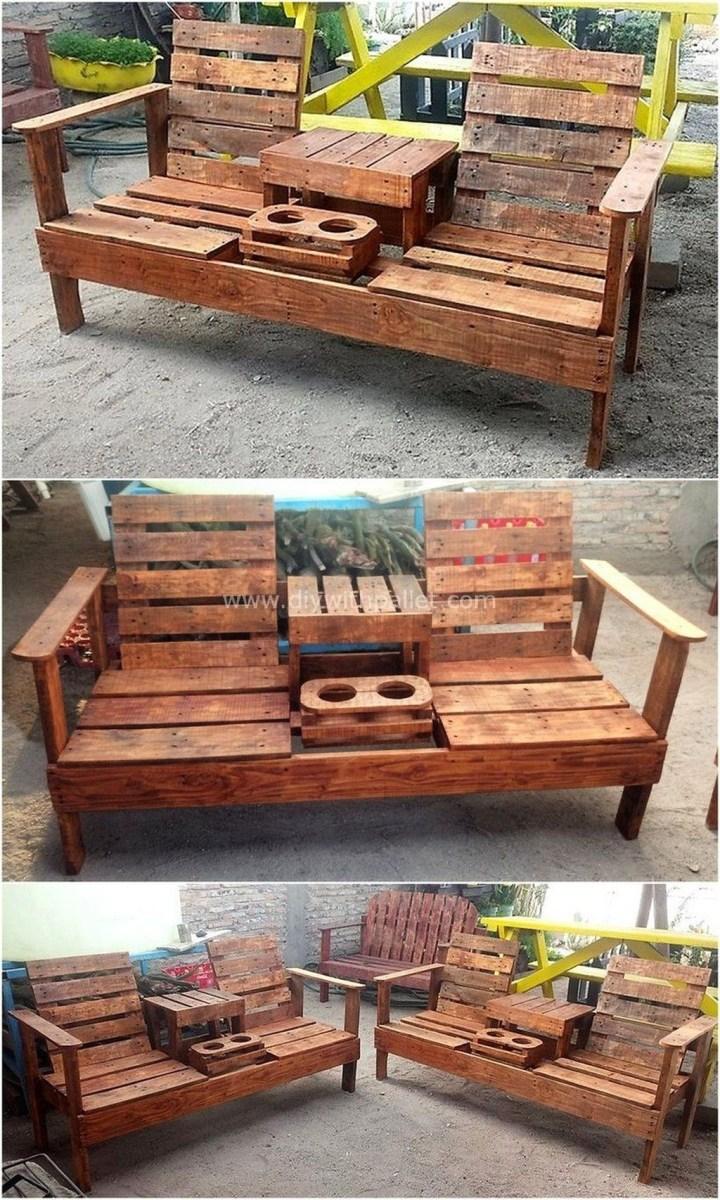 Elegant Diy Pallet Furniture Design Ideas 06