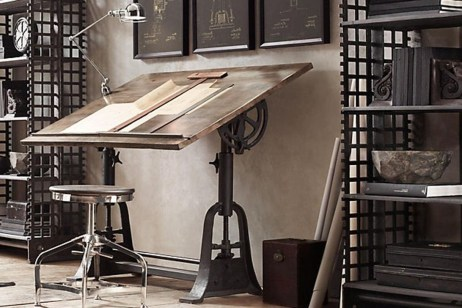 Gorgeous Industrial Table Design Ideas For Home Office 07