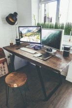 Gorgeous Industrial Table Design Ideas For Home Office 11