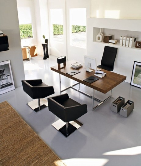 Gorgeous Industrial Table Design Ideas For Home Office 17