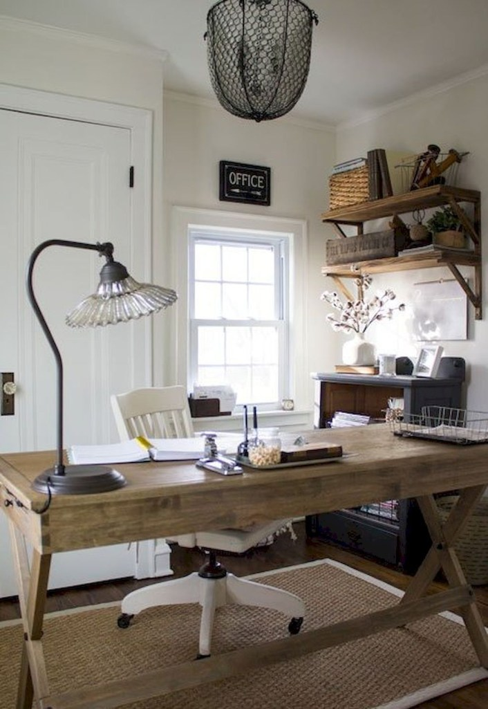 Gorgeous Industrial Table Design Ideas For Home Office 31