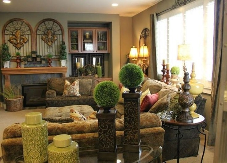 Luxury European Living Room Decor Ideas With Tuscan Style 04