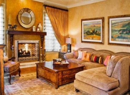 Luxury European Living Room Decor Ideas With Tuscan Style 42