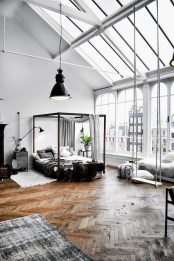 Perfect Industrial Style Loft Designs Ideas For Living Room 11