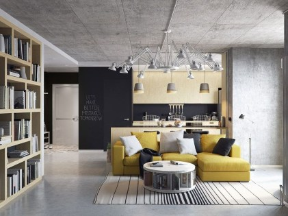 Perfect Industrial Style Loft Designs Ideas For Living Room 12
