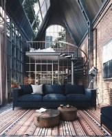 Perfect Industrial Style Loft Designs Ideas For Living Room 14