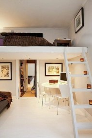 Relaxing Small Loft Bedroom Designs 25