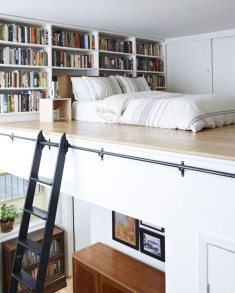 Relaxing Small Loft Bedroom Designs 31