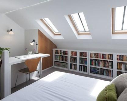 Relaxing Small Loft Bedroom Designs 49