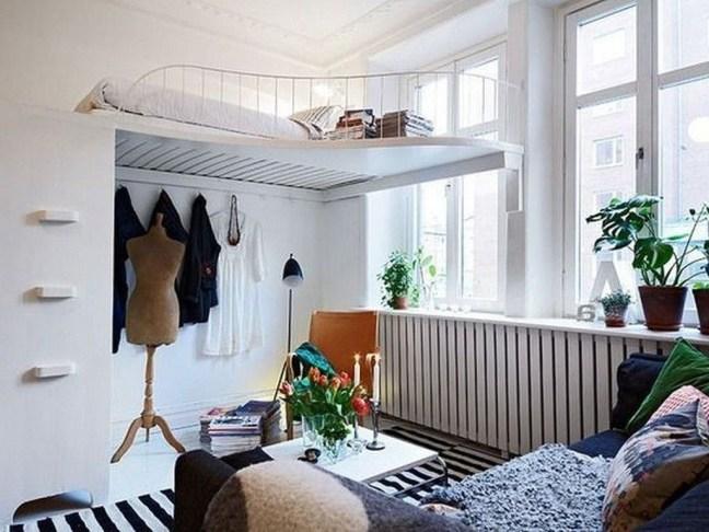 Relaxing Small Loft Bedroom Designs 53