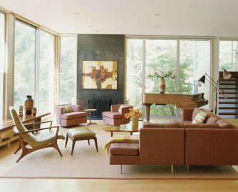 Unique Mid Century Living Room Ideas With Furniture 37