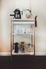 Wonderful Apartment Coffee Bar Cart Ideas 02
