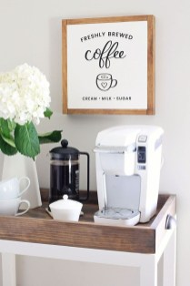 Wonderful Apartment Coffee Bar Cart Ideas 26