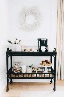 Wonderful Apartment Coffee Bar Cart Ideas 50