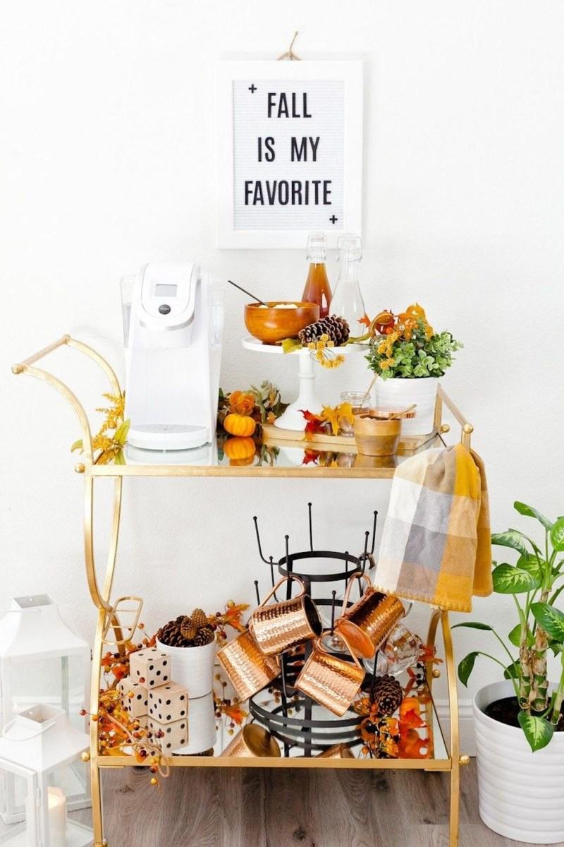 Wonderful Apartment Coffee Bar Cart Ideas 52