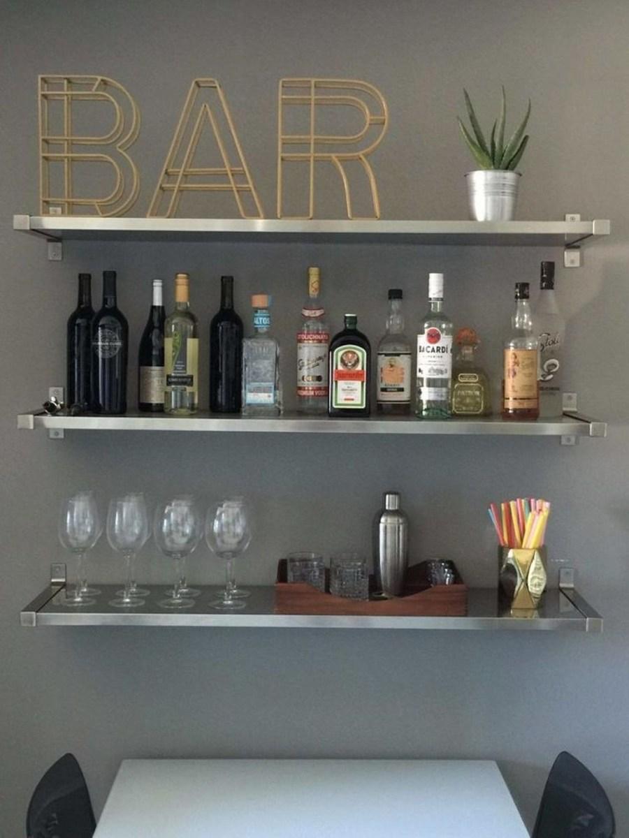 Wonderful Apartment Coffee Bar Cart Ideas 54