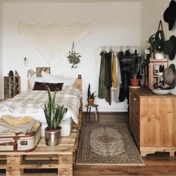 Wonderful Bohemian Design Decorating Ideas For Bedroom 29