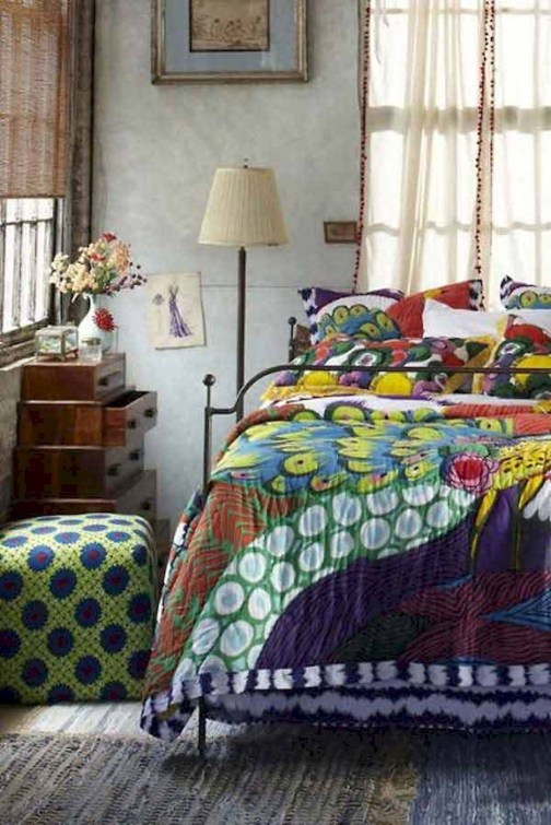Wonderful Bohemian Design Decorating Ideas For Bedroom 47
