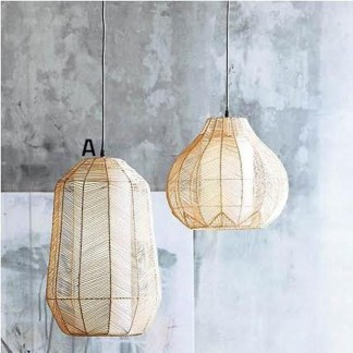 Adorable Hanging Lamp Designs Ideas From Rattan 31
