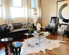 Catchy Living Room Designs Ideas With Bold Black Furniture 17