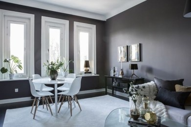 Catchy Living Room Designs Ideas With Bold Black Furniture 30