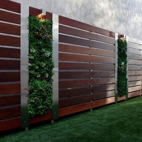 Cute Garden Fences Walls Ideas 28