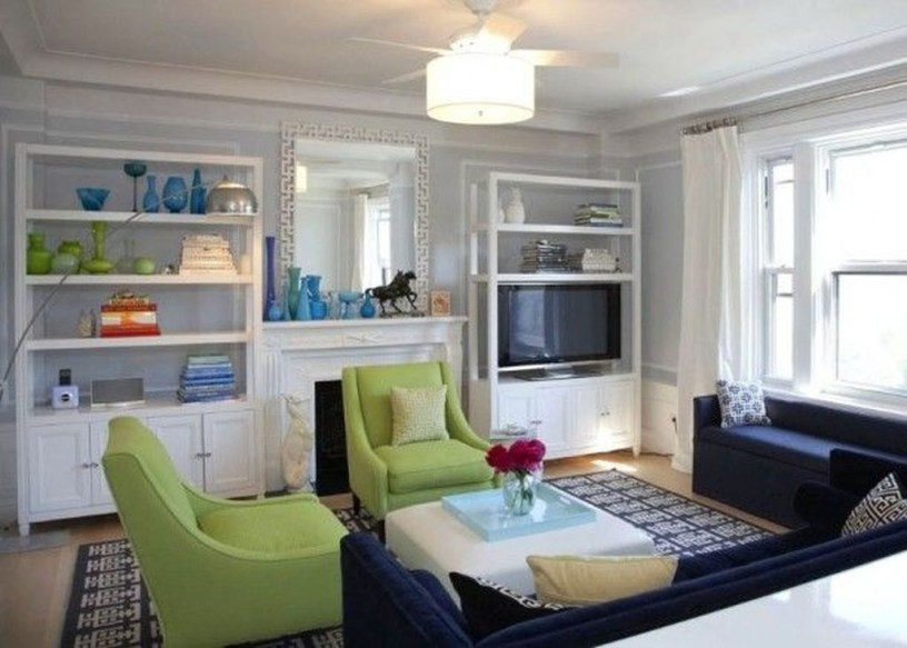 Enchanting Living Rooms Ideas With Combinations Of Grey Green 01