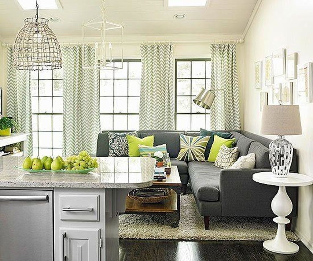 Enchanting Living Rooms Ideas With Combinations Of Grey Green 03