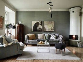Enchanting Living Rooms Ideas With Combinations Of Grey Green 08