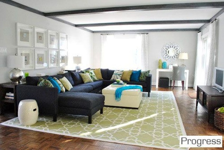 Enchanting Living Rooms Ideas With Combinations Of Grey Green 14