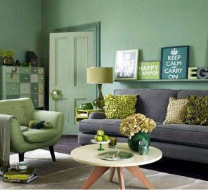 Enchanting Living Rooms Ideas With Combinations Of Grey Green 19