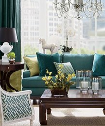 Enchanting Living Rooms Ideas With Combinations Of Grey Green 29