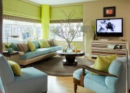 Enchanting Living Rooms Ideas With Combinations Of Grey Green 48