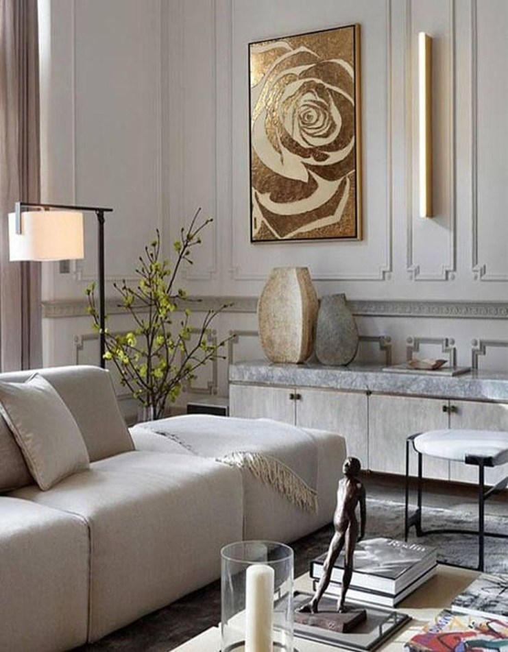 Impressive French Style Living Room Designs Ideas 12