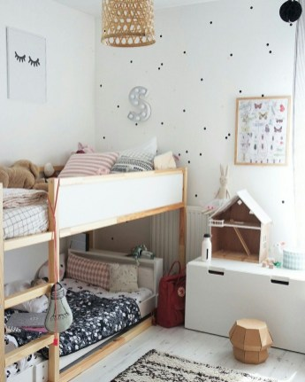 Inspiring Shared Kids Room Design Ideas 24