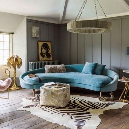 Popular Velvet Sofa Designs Ideas For Living Room 02