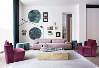 Popular Velvet Sofa Designs Ideas For Living Room 05