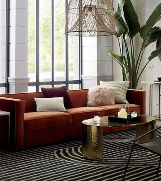 Popular Velvet Sofa Designs Ideas For Living Room 15