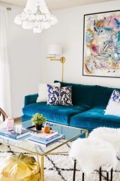 Popular Velvet Sofa Designs Ideas For Living Room 27