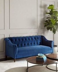 Popular Velvet Sofa Designs Ideas For Living Room 28