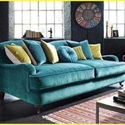 Popular Velvet Sofa Designs Ideas For Living Room 35