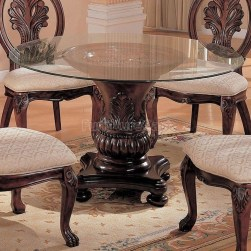 Striking Round Glass Table Designs Ideas For Dining Room 04
